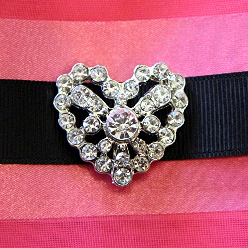 20 PC Heart Slide-buckle HEARTCharm HALLOWEEN BLOWOUT SALE- Hair Jewelry Ribbon Slider for Ribbons Wedding Supply Gift Wrap Hairbow Center