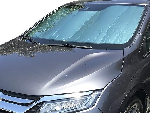 Custom Windshield Sun Shade 2018 Honda Odyssey w// Sensor Heat Shield HD-96A