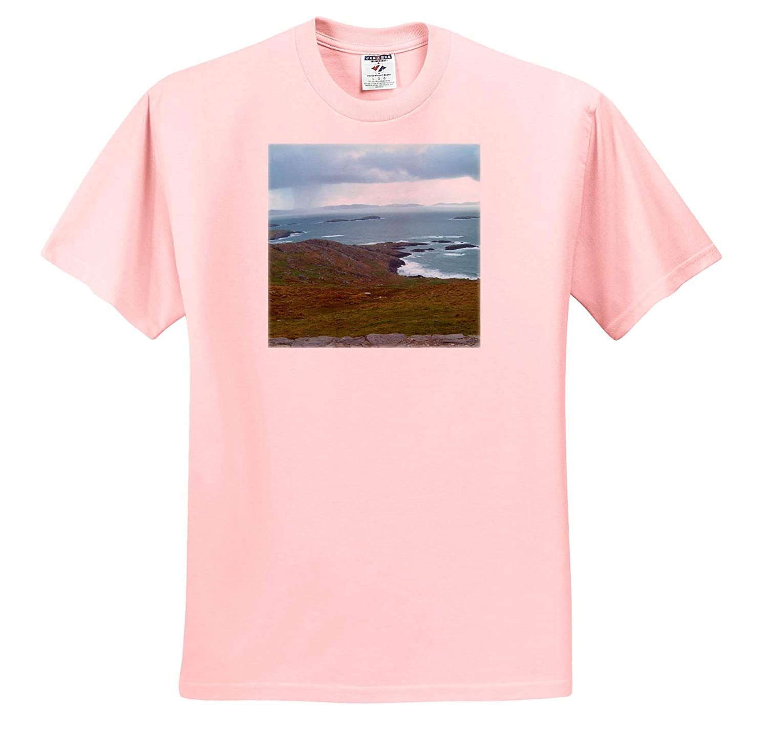 Beautiful Scenery in Ireland with Green Grass and Blue Water T-Shirts Ireland Wetland 3dRose Jos Fauxtographee