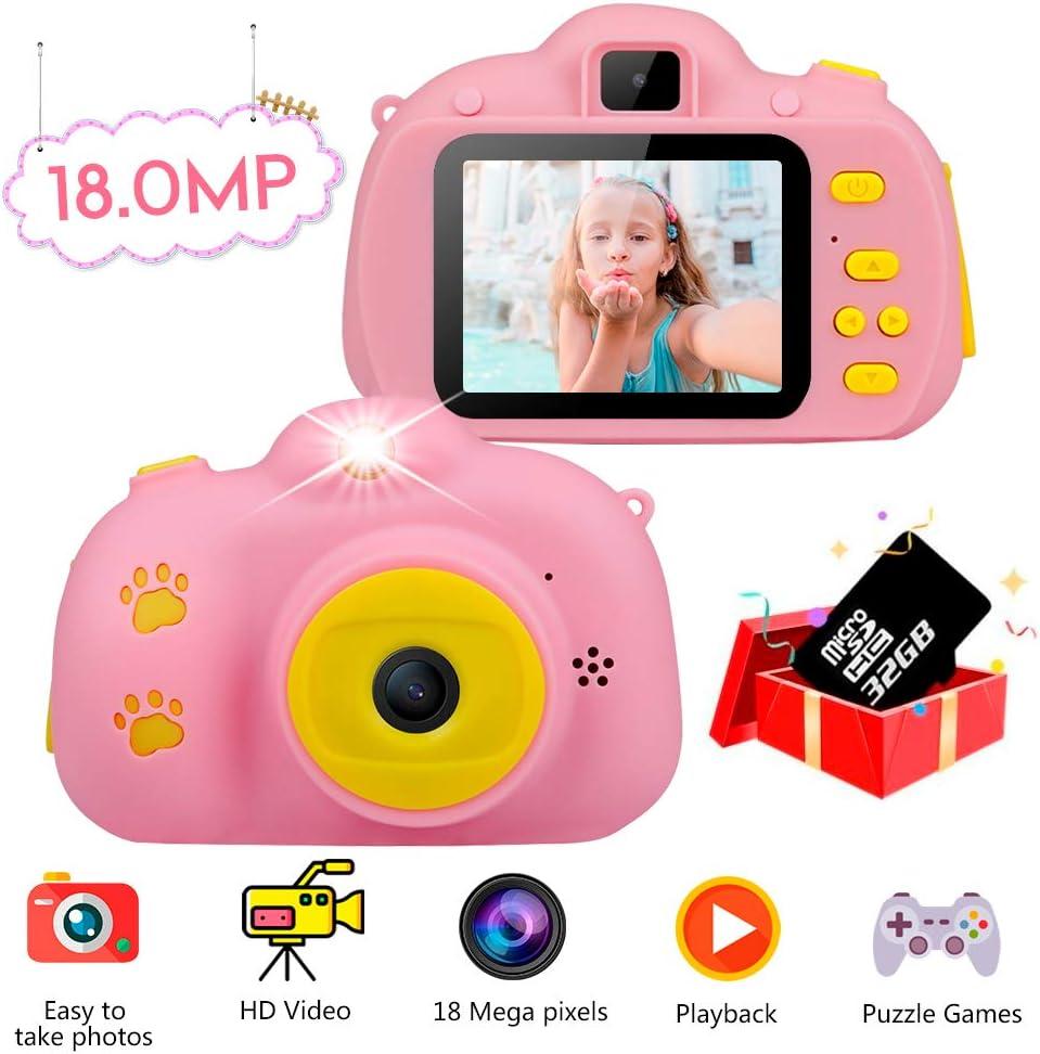 Amazon.es: Haisito Cámara Fotos para Niños, 18MP HD Mini Cámaras ...