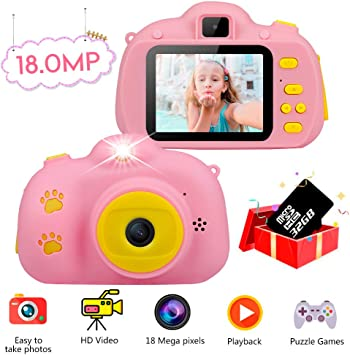 Amazon.es: Haisito Cámara Fotos para Niños, 18MP HD Mini Cámaras ...