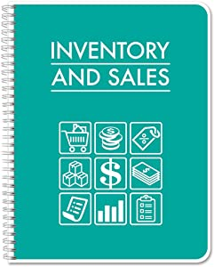 "BookFactory Business Inventory & Sales/Inventory and Sales Ledger Book/Log Book/Notebook - 100 Pages, 8.5"" x 11"" (LOG-120-7CW(Inventory-Sales)-BX)"