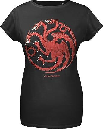2cf6635d9292 GOZOO Game of Thrones T-Shirt Women House Targaryen - Sigil 100% Cotton  Black
