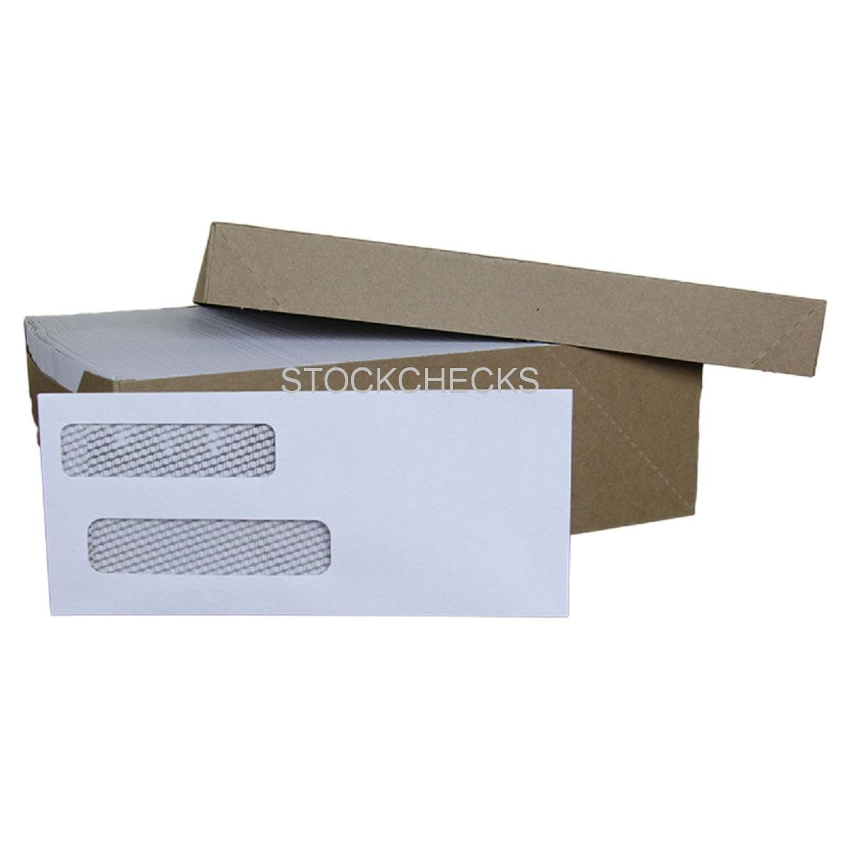 2,500 Double Window Security - Tint Gummed Seal Envelopes: Fits Quicken, Quickbooks, Microsoft Money Checks, Quick Books, Intuit