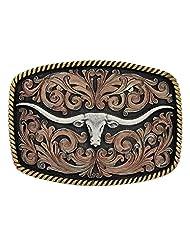 Montana Silversmiths Western Belt Buckle John Wayne Bronze Black A534T