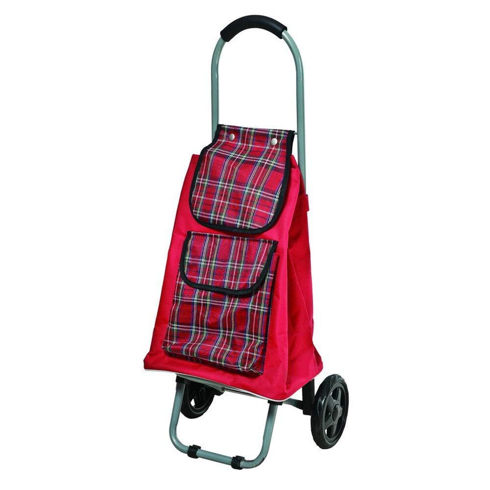 多機能トロリー折り畳みショッピングカート B07K9KBPKV、野菜を購入する老人、階段を登る、ショッピングカート (色、小型カート (色 : 青) Red B07K9KBPKV Red Red, イワシロマチ:a0faf1fc --- anime-portal.club