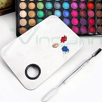 juego de maquillaje profesional con paleta para mezclar colores de maquillaje