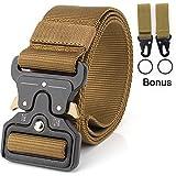 Mensbeltee Tactical Belt Nylon Belt Mens Gun Concealed Carry Duty Military Battle EDC Belt (Brown)