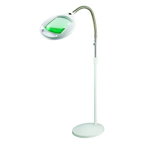Brightech LightView Pro LED Magnifying Floor Lamp   Daylight Bright Full  Spectrum Magnifier Lighted Glass Lens
