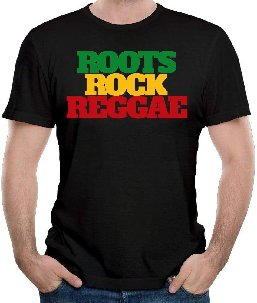Roots Rock Reggae Rasta Camisas de Manga Corta para Hombres más ...