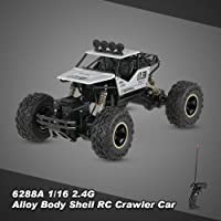 Kidszone 2.4Ghz 1/18 RC Rock Crawler Vehicle Buggy Car 4 WD Shaft Drive High Speed Remote Control Monster Off Road Truck... Colour May Vary