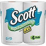 Scott 36409 Rapid Dissolving Tissue, 1-Ply, 264 Sheets, 4 Rolls/Pack, 12 Packs/Carton