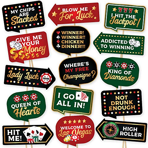 Vegas Themed Decorations - Las Vegas Casino Photo Booth Props