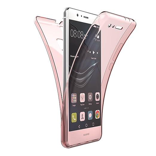 4 opinioni per Custodia per Huawei P9 Lite , GrandEver 360° Full Body Ultra Sottile Gel