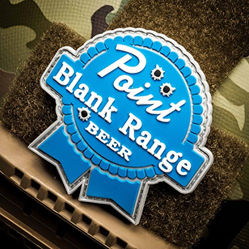 Point Blank Range Beer - PVC Morale Patch, Velcro Morale Patch by NEO Tactical Gear