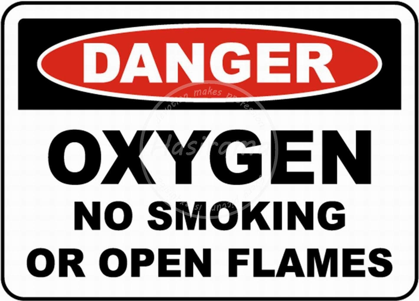 HALEY GAINES Oxygen No Smoking Placa Cartel Póster de Pared ...