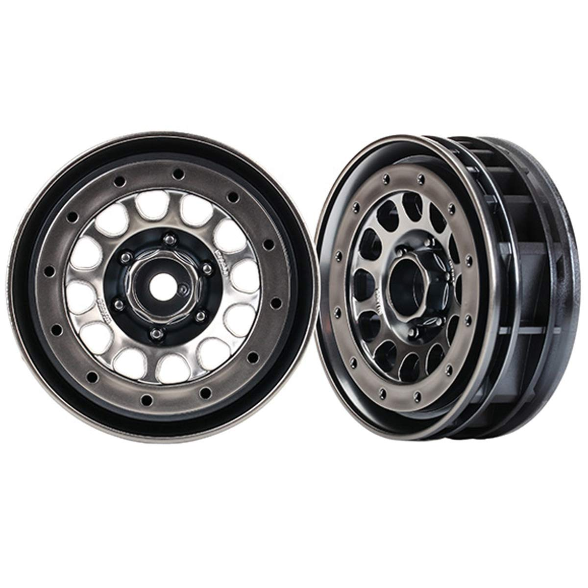 Traxxas 8173 Method 105 Beadlock Wheels 1.9 Black Chrome