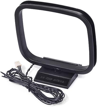 eightw Am Antena 3 Pin Mini Conector para Sony HiFi Serie Sharp estéreo AV sintonizador Receptor Sistema de Audio