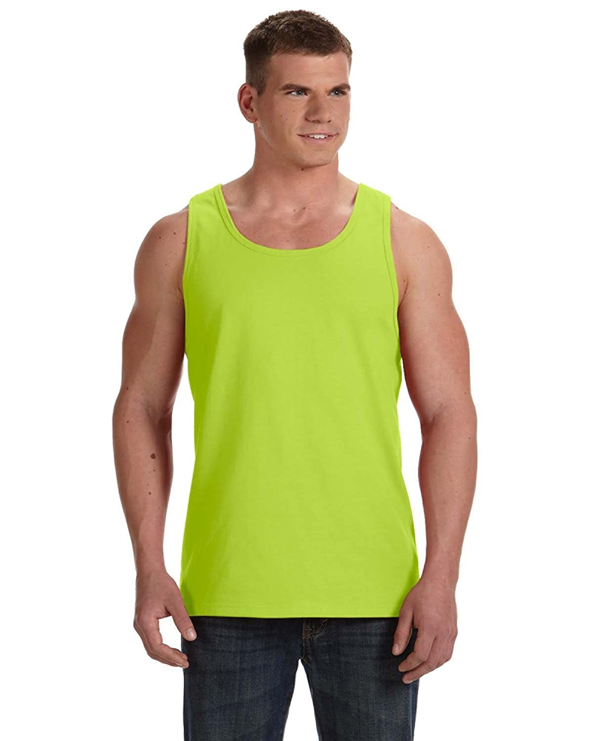 L - Safety Green Instant Savings of 5/% /& More Fruit of the Loom Product of Brand Adult 5 oz HD Cotton Tank Top
