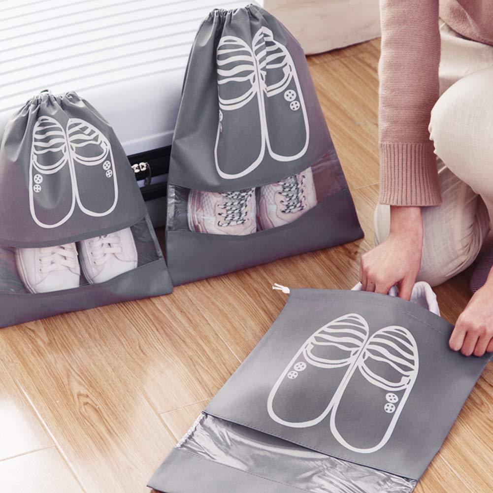 Impermeable Bolsa a Prueba de Polvo Zapatos Xddias 12 Piezas Bolsa de Zapatos Zapatos de Viaje Bolsa de Acabado con Ventana Transparente para Hombres y Mujeres