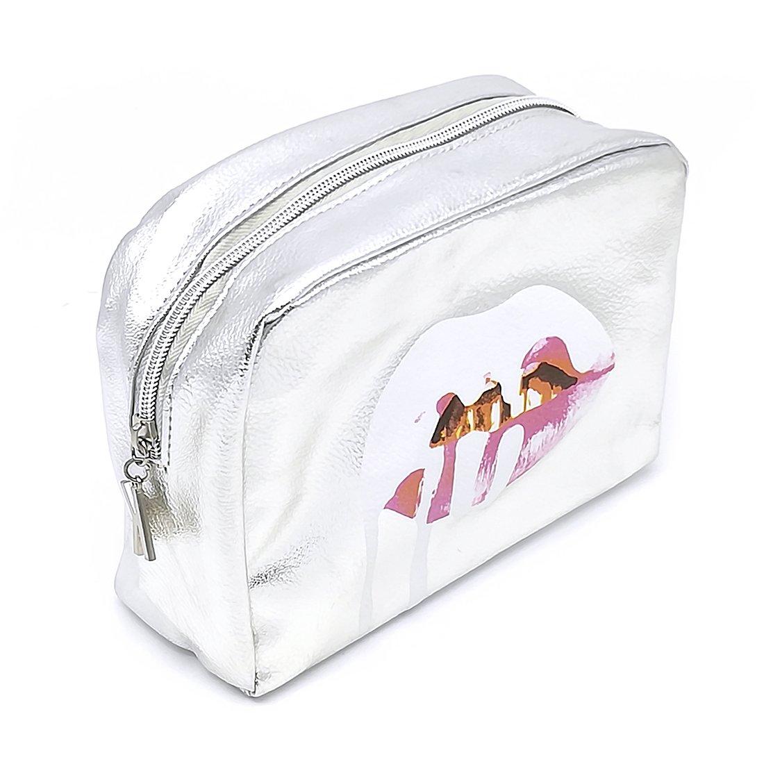 YOMYM Trousse à Maquillage, Trousse de Toilette imperméable à l'eau -Sacoche de Maquillage Compacte Accessoires de Voyage Organiseur pour Cosmétiques (Noir)