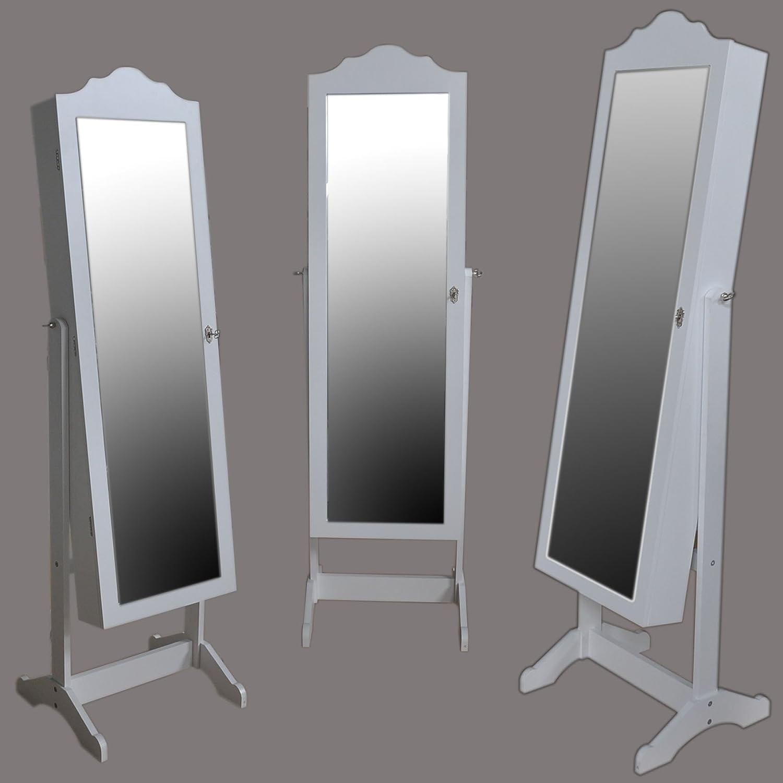Schmuckschrank LED Standspiegel Make-up Schatulle Spiegelschrank ...