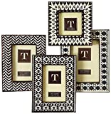 Two's Company Incredible India Brown Ikat Photo Frame Set of 4