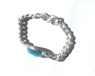 Pdj Salman Khan Turquoise Silver Bracelet For Kids 5 To 7 Years Old