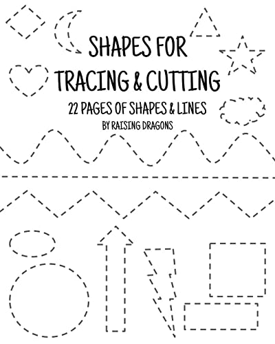 These Worksheets Are Perfect For Kindergartners, Preschoolers And First  Graders Who Need To Work On Cutting And Tracing Skills. Practice Tracing  The Lines, Then Use Scissors To Cut Out The Shapes And Cut Along The Lines.  Ideal For Ages 4-7.