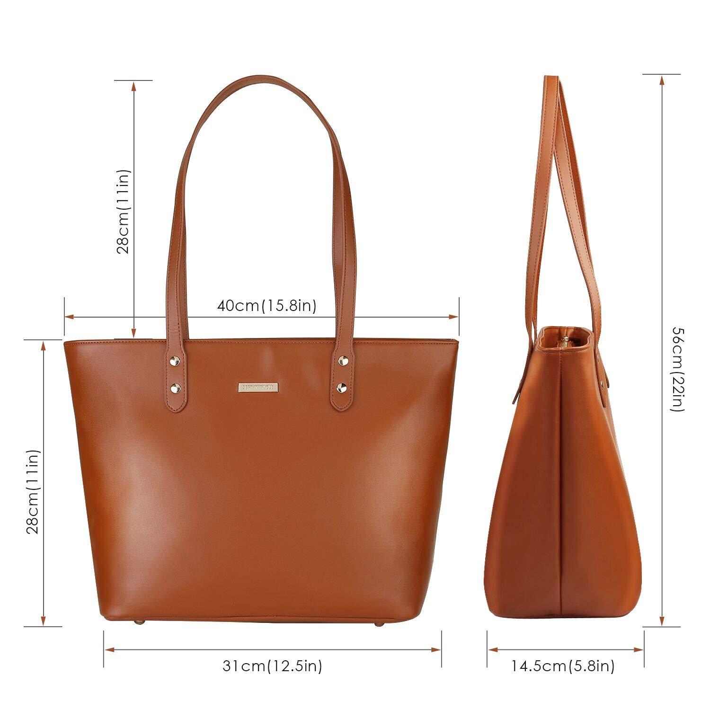 e425190038d Amazon.com: SEPT MIRACLE PU Leather Womens Portable Handbags Tote Bag  Shoulder Bag Purse (Brown): Shoes