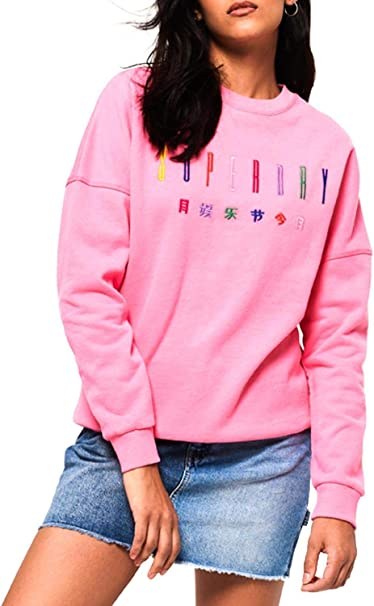 Superdry Sweat Carly Carnival Rosa Femme: