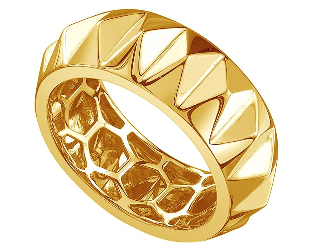 Wishrocks 14K Gold Over Sterling Silver Dad Ring