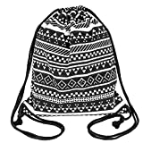 Peicees Canvas Drawstring Backpack with Zipper Pocket Gymsack Drawstring Bag Sport Sackpack Travel School Backpack for Men Women Boys and Girls (Black 1) Review