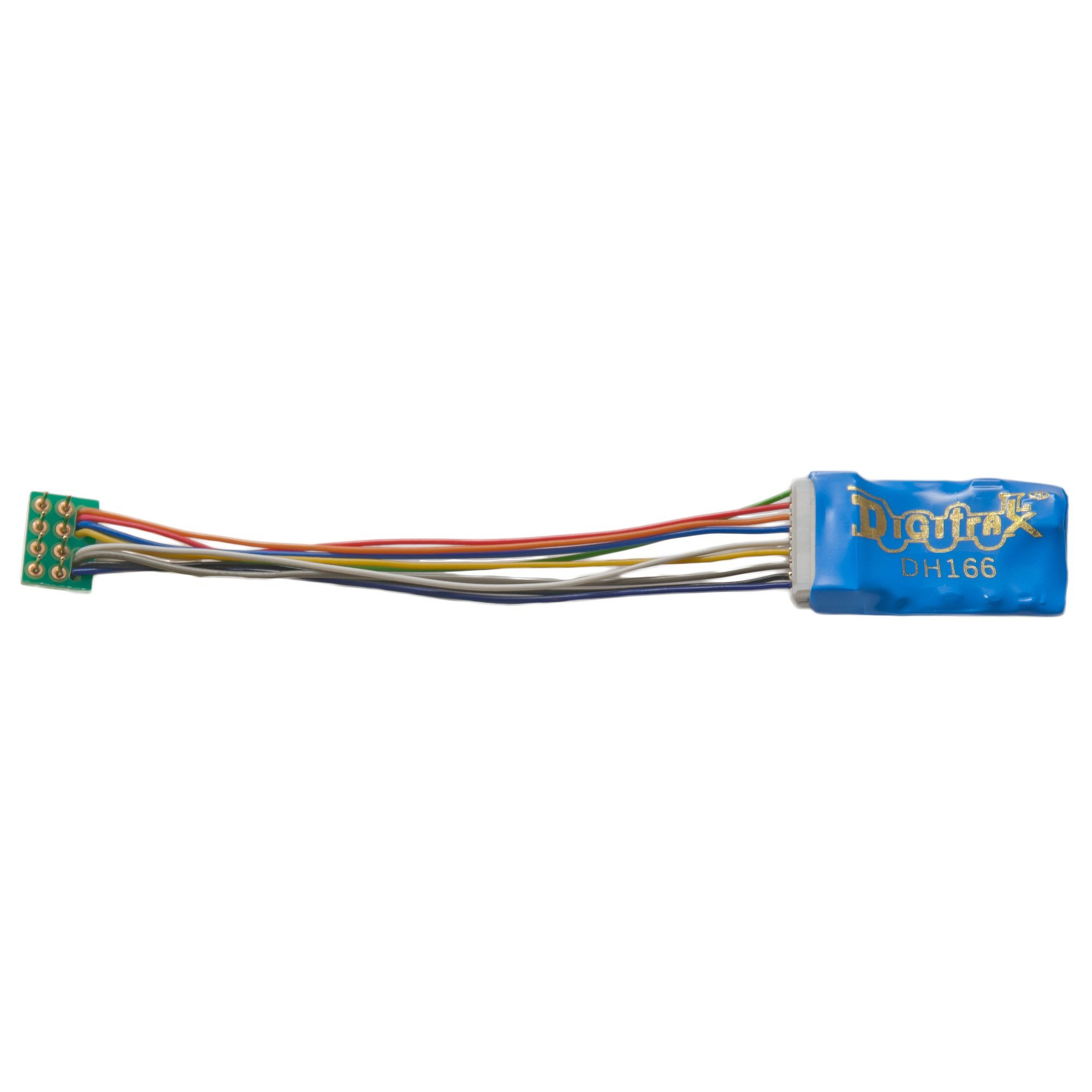 Digitrax DGTDH166P HO DCC Decoder Prem S6, 3.2''Wires 6FN 8-Pin 1.5A by Digitrax