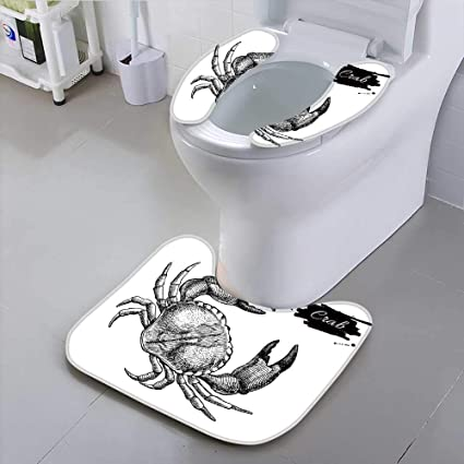 Outstanding Amazon Com Universal Toilet Seat Vector Vintage Crab Draw Lamtechconsult Wood Chair Design Ideas Lamtechconsultcom