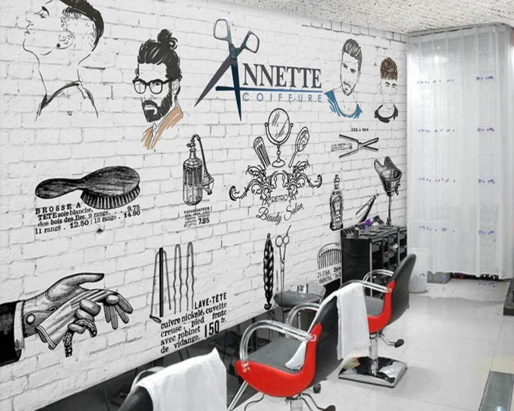 Hhcyy Männer Barber Shop Wallpaper Salon Keine Sharon Fototapete Benutzerdefinierte Benutzerdefinierte Benutzerdefinierte 3D Wandgemälde Handgemalte Trend Barber Shop Wandbild-250cmx175cm B07PBBMCR7 Wandtattoos & Wandbilder 1c6950