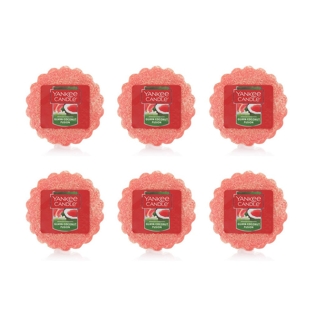 Yankee Candle Lot of 6 Guava Coconut Fusion TartsワックスMelts B0795DW1QH