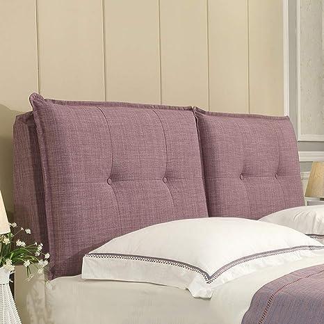 Amazon.com: Cabecero tapizado para cama, cuña, cabeza, cojín ...