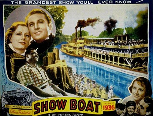 Odsan Gallery Show Boat, Irene Dunne & Allan Jones, Charles Winninger, 1936 - Premium Movie Poster Reprint 40