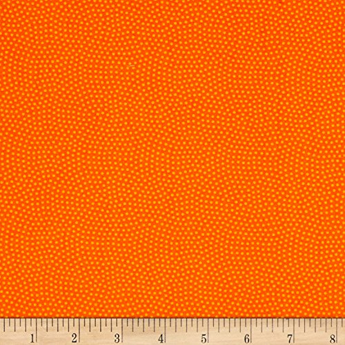 Timeless Treasures 0529276 Spin Dot Orange Fabric by The Yard ()