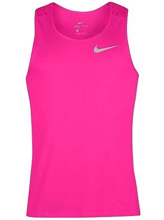 0b12f6cc NIKE Dry Dri Fit Miller Tank Top Men's Sleeveless Running Shirt (Small,  Racer Pink