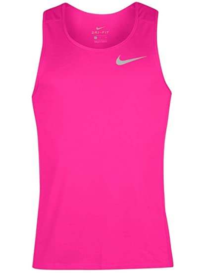10f2d2d7 NIKE Men's Dri-Fit Miler Singlet Running Shirt