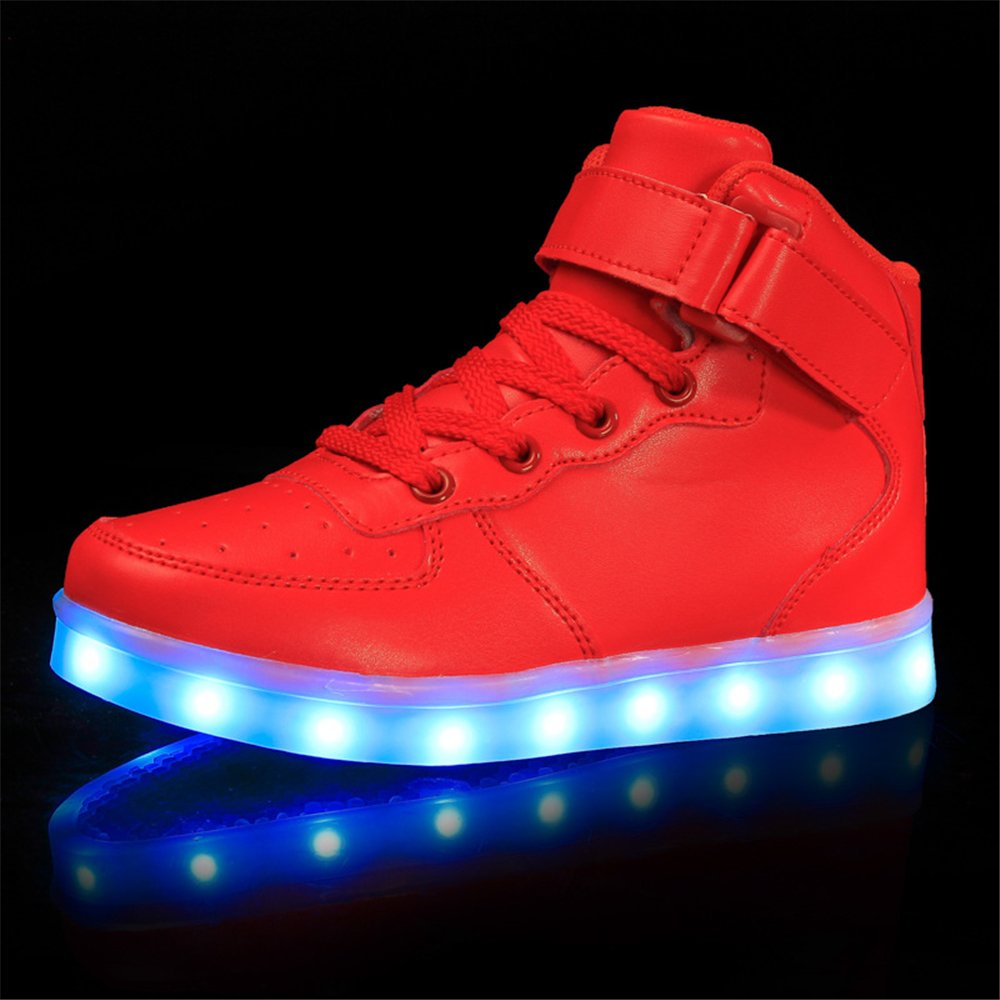 Man/Woman High Top Velcro LED LED LED Light up Shoes 7 Colors USB Flashing Rechargeable Walking Sneakers for Kids Boots Big clearance sale Cheaper than the price Very practical RR86664 345fd5