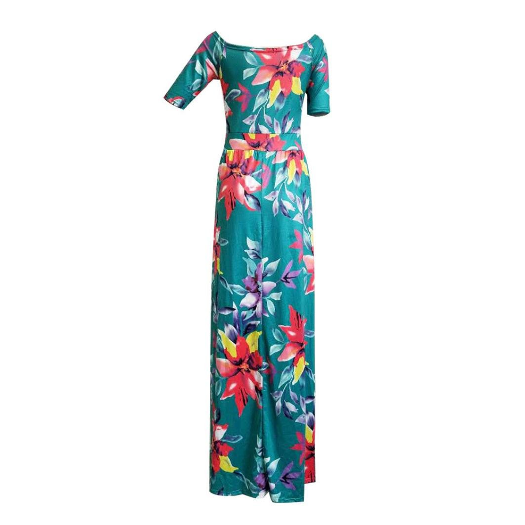 bca5caa13e1 Amazon.com  Wensltd Women Plus Size Jumpsuit Romper Short Trousers Bodycon  Clubwear Playsuit Long Dress (S