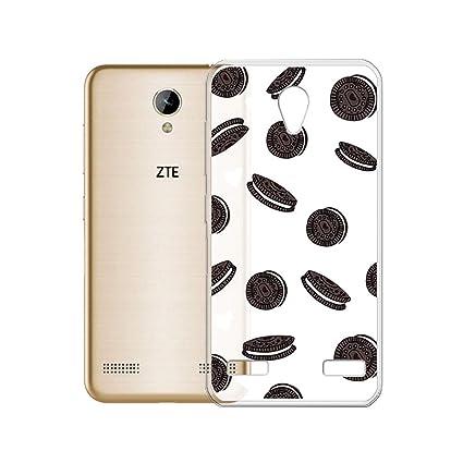 SCDMY Funda para ZTE Blade A520, Flexible Esmerilado Carcasa Protector de Silicona Suave Translúcido TPU Parachoques Case Funda para ZTE Blade A520 ...