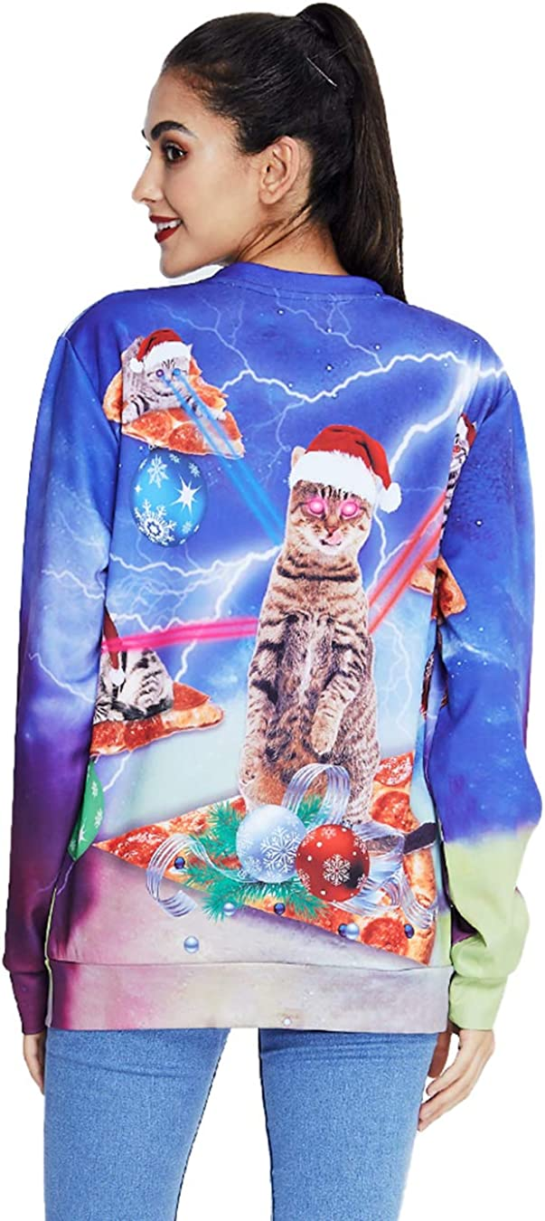 TUPOMAS Men Women Ugly Christmas Sweatshirts Unisex 3D Graphic Sweater Shirt Pullover Funny Hilarious Xmas Party Wear S-3XL