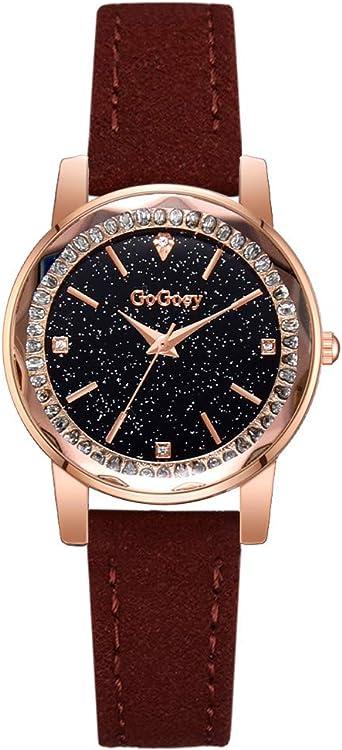 REALDE Reloj De Pulsera Cielo Estrellado Bisel De Cristal Reloj De ...