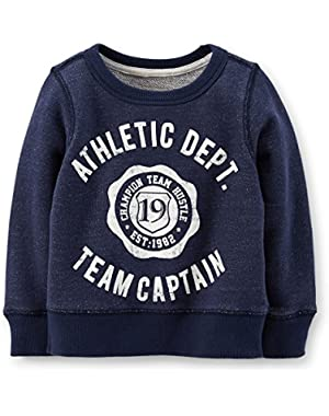 Carter's Baby Boys French Terry Pullover (18M, Navy)