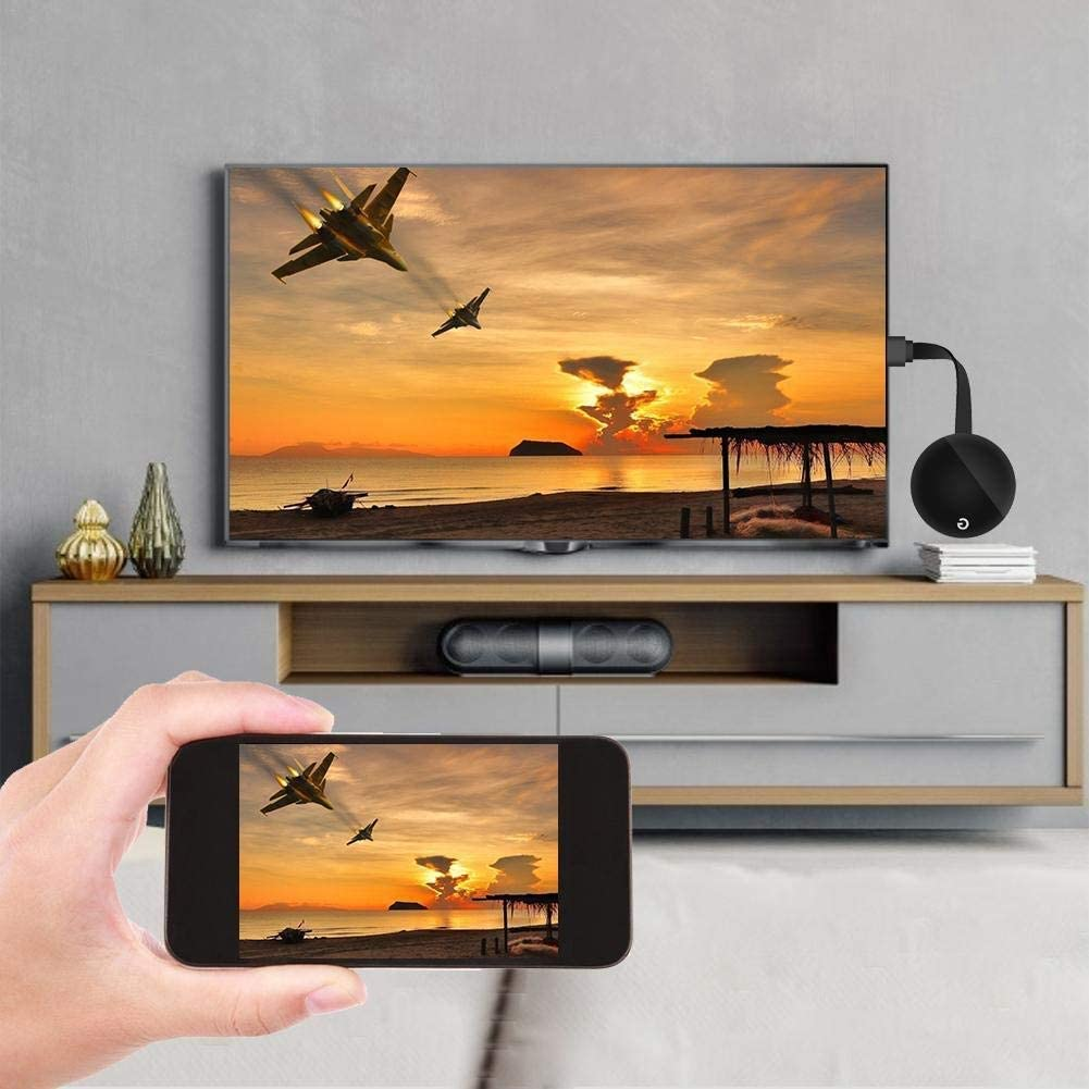 PC iPad iOS Receptor de Video 4K HD WiFi Streaming para iPhone Mac OS a HDTV Monitor Proyector Android Tablet Adaptador de dongle de Pantalla HDMI inal/ámbrico Windows