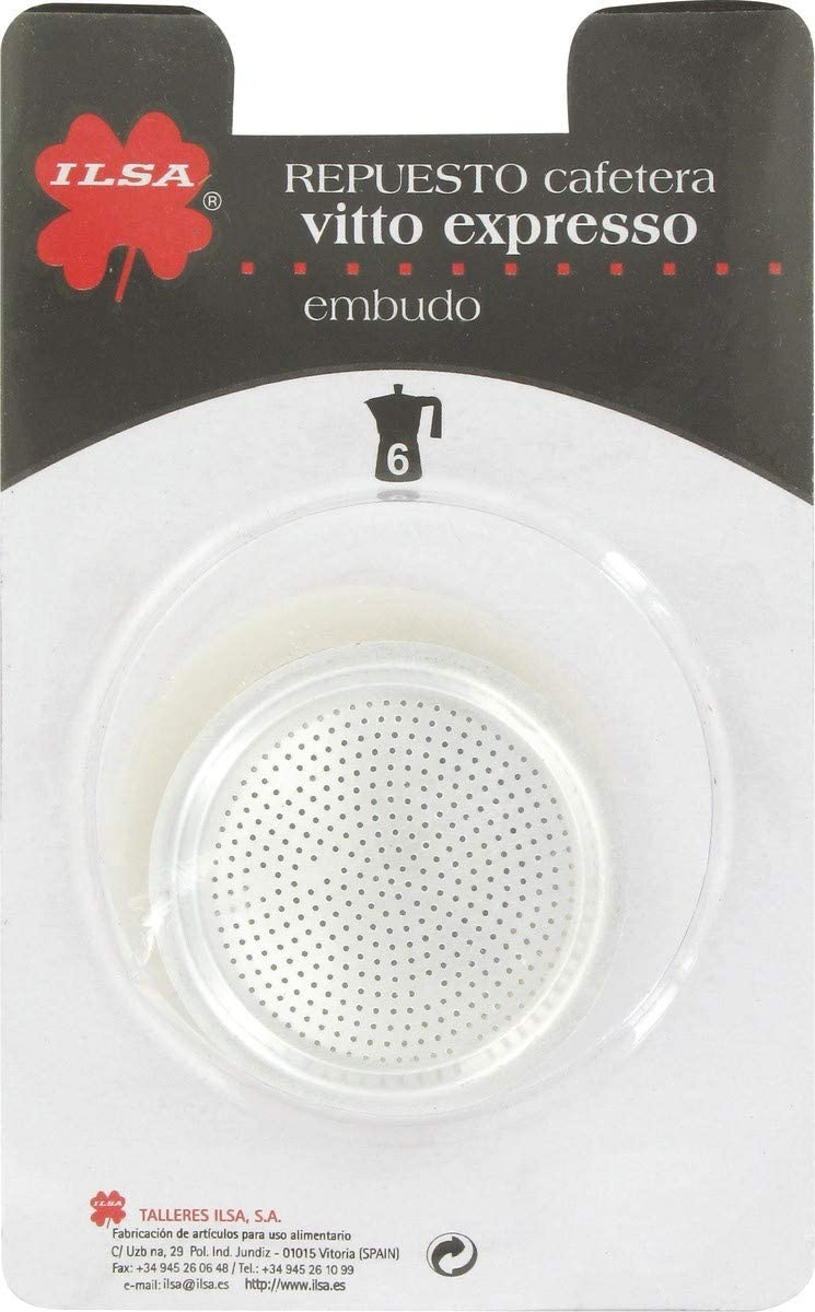 Ilsa Cafetera Aluminio Vitto Expresso para 12 Tazas, Plateado ...